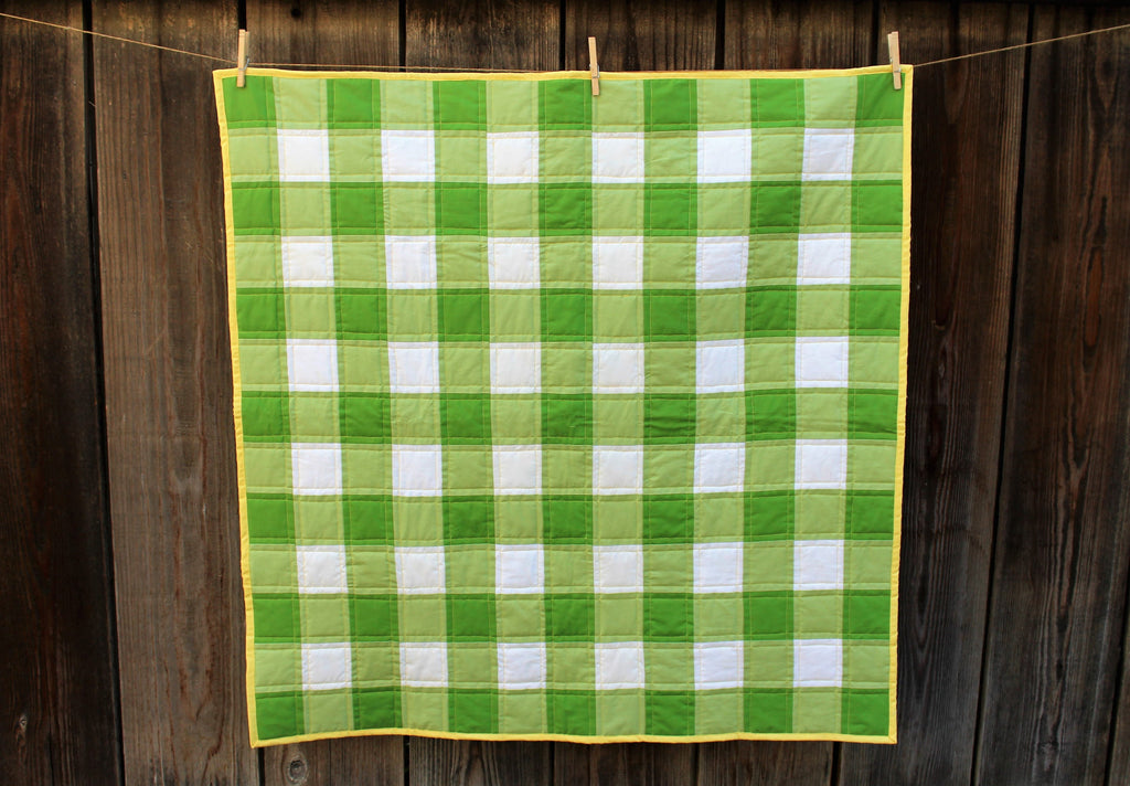 Gingham Quilt in Green