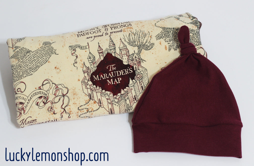 Swaddle Blanket made with Marauders Map Fabric
