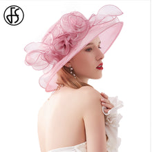 Load image into Gallery viewer, FS Lady Formal Kentucky Derby Hats Flower Church Hat