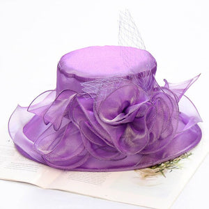 FS Lady Formal Kentucky Derby Hats Flower Church Hat