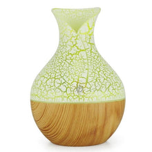 Load image into Gallery viewer, 130mL USB Ultrasonic Essential Oil Diffuser with Wood Grain 7 Color Night Light