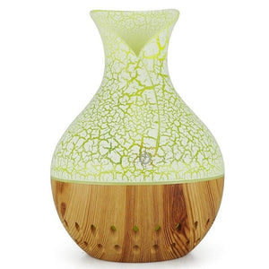 130mL USB Ultrasonic Essential Oil Diffuser with Wood Grain 7 Color Night Light