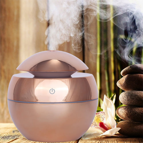 USB Aroma Ultrasonic Essential Oil Diffuser with 7 Color LED Light