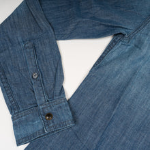 Load image into Gallery viewer, Mercy & Loyal Denim Button up Stonewashed Blue
