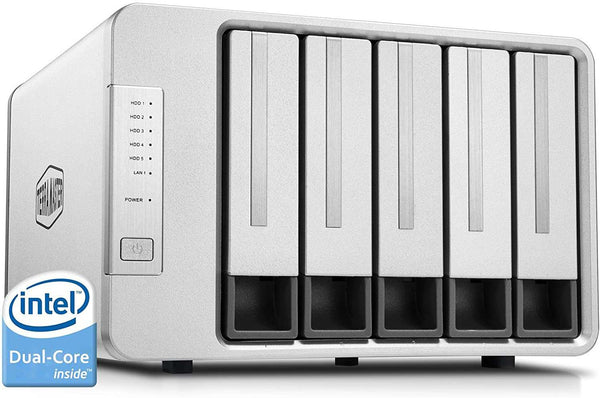 TerraMaster F5-221 NAS 5Bay Cloud Speicher Intel Dual-Core 2,0GHz Plex Media Server