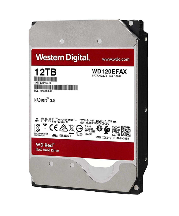 "WD Red 12TB SATA 6Gb/s 256MB Cache 3,5"" 24x7 5400Rpm, für SOHO NAS HDD WD120EFAX - Hardware Best"