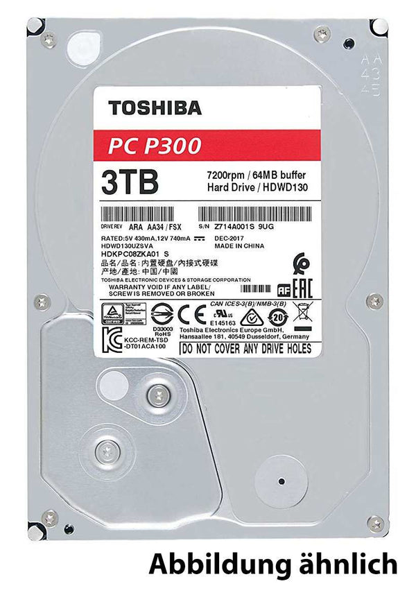 Toshiba P300 High-Performance 3TB, SATA 6Gb/s, bulk (HDWD130UZSVA) - Hardware Best