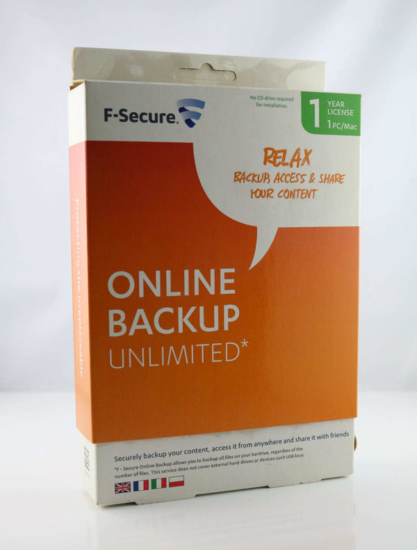 F-secure Online Backup unlimited 1 year license english