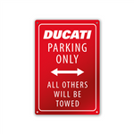 Plaque Ducati Parking