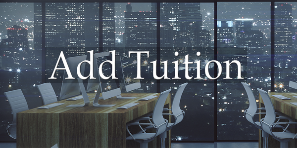Add $50 tuition to transfer into a course