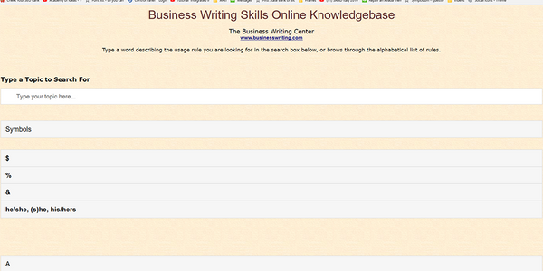 Business Writing Skills Online Knowledgebase