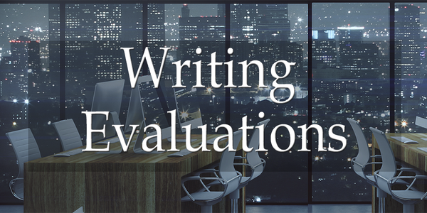 An evaluation rating for the writing sample with no formal report.