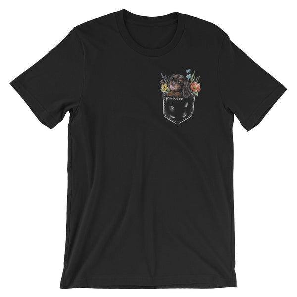 CAV IN POCKET (black and tan) Black T-Shirt