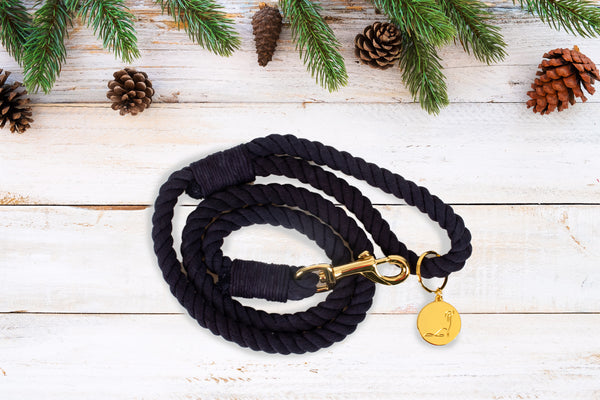 ROPE LEASH - SMOKED CEDARWOOD