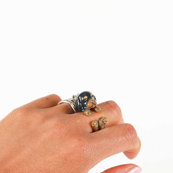 Black & Tan Ring | Little Things Jewelry