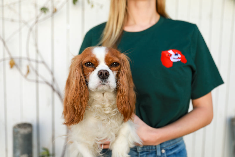 Embroided Cavalier (Tricolor) Short-Sleeve Unisex T-Shirt