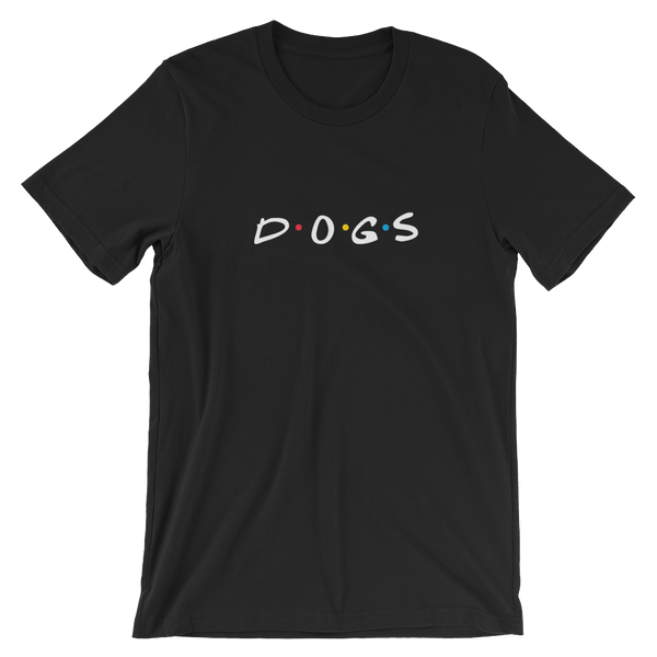 DOGS Friends Black T-Shirt