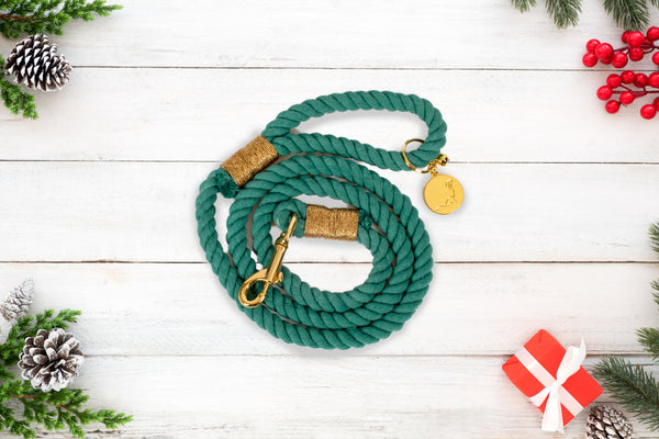 ROPE LEASH - PEPPERMINT