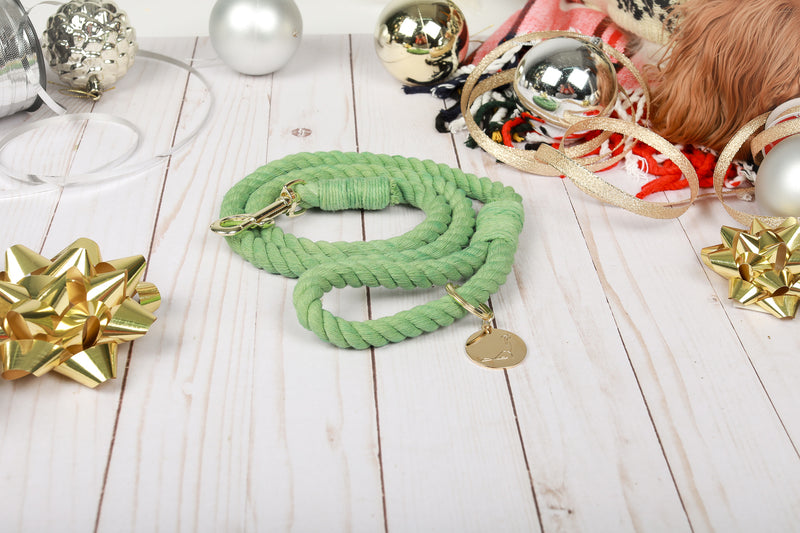 FROSTED PINE Rope Leash