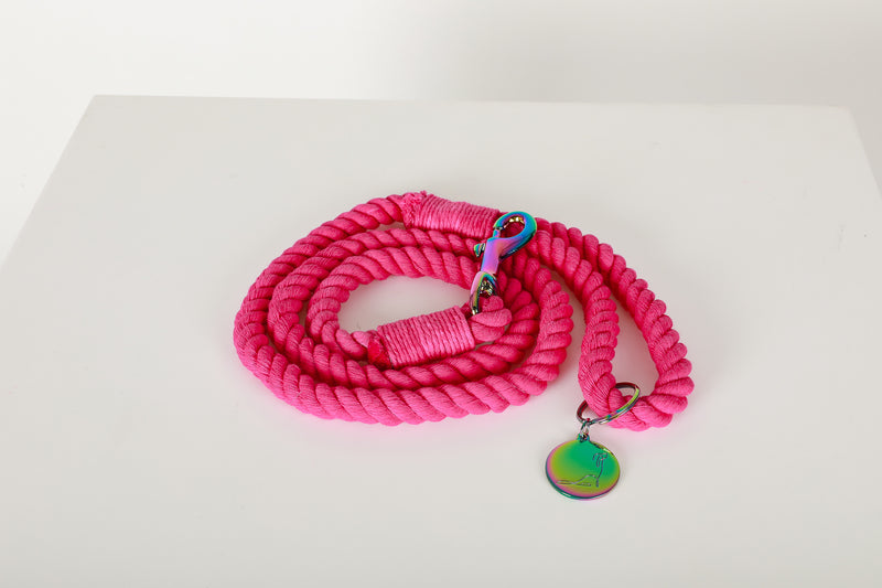 HAWAII SUNSET Hot Pink Rope Leash