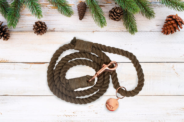 ROPE LEASH - SNOWY PINE