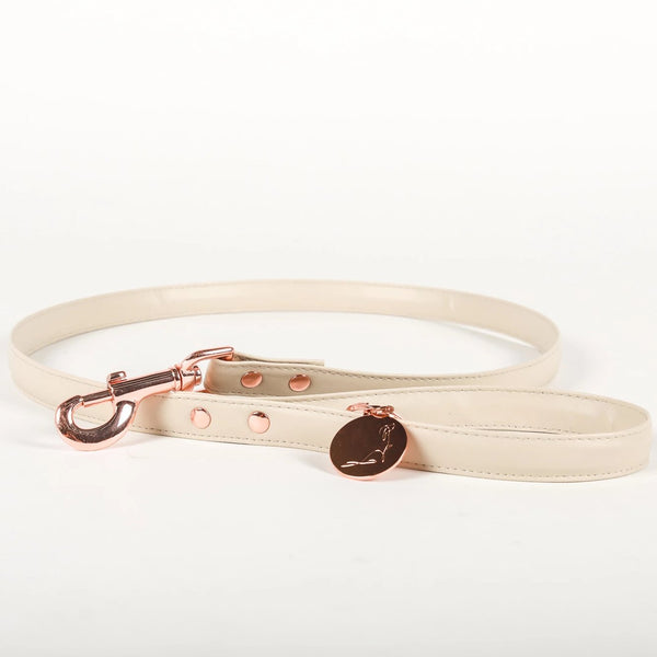 RODEO DRIVE Beige Vegan *PREMIUM* Leather Leash