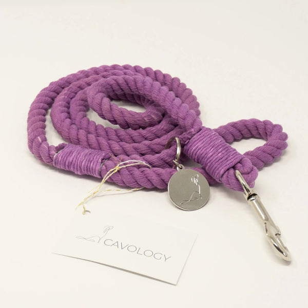 LILAC BLOSSOM purple Rope Leash