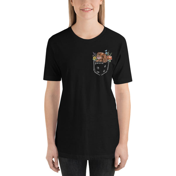 CAV IN POCKET (ruby) Black T-Shirt
