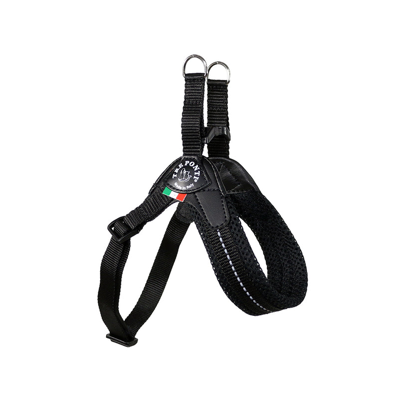 Tre Ponti Mesh Adjustable Black Harness