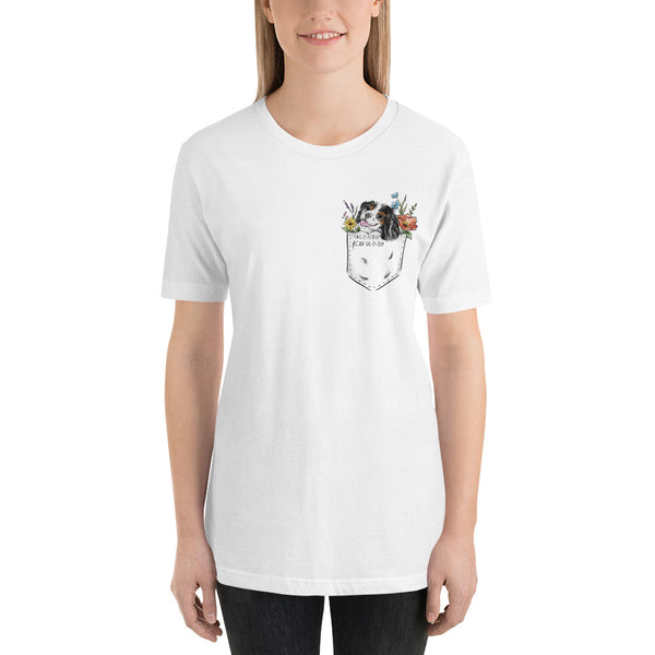 CAV IN POCKET (tricolor) White T-Shirt