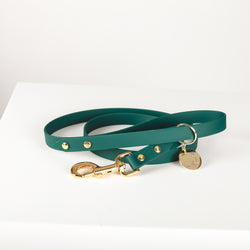 5TH AVE Dark Green Vegan Leather Leash