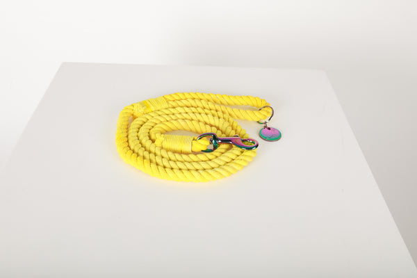SUNSHINE LEMONADE Yellow Rope Leash