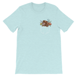 CAV IN POCKET (ruby) PASTEL T-Shirt