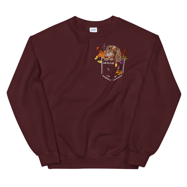 Cav in Pocket (ruby) *FALL EDITION* Unisex Sweatshirt