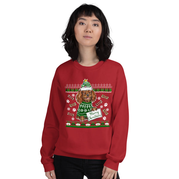 UGLY CHRISTMAS SWEATER (ruby) Unisex Sweatshirt