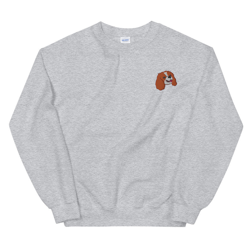 Embroided Cavalier (blenheim) Unisex Sweatshirt