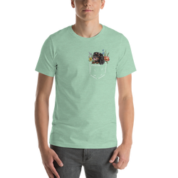 CAV IN POCKET (black&tan) PASTEL T-Shirt