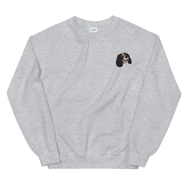 Embroided Cavalier (tricolor) Unisex Sweatshirt