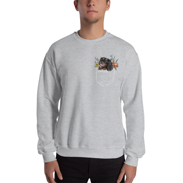 CAV IN POCKET (black&tan) Unisex Sweatshirt