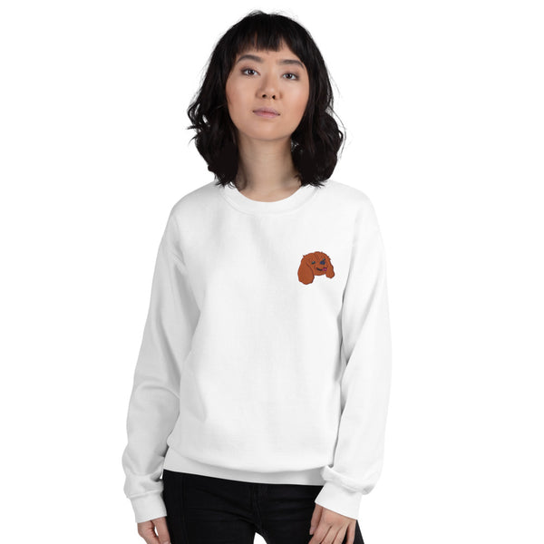 Embroided Cavalier (ruby) Unisex Sweatshirt