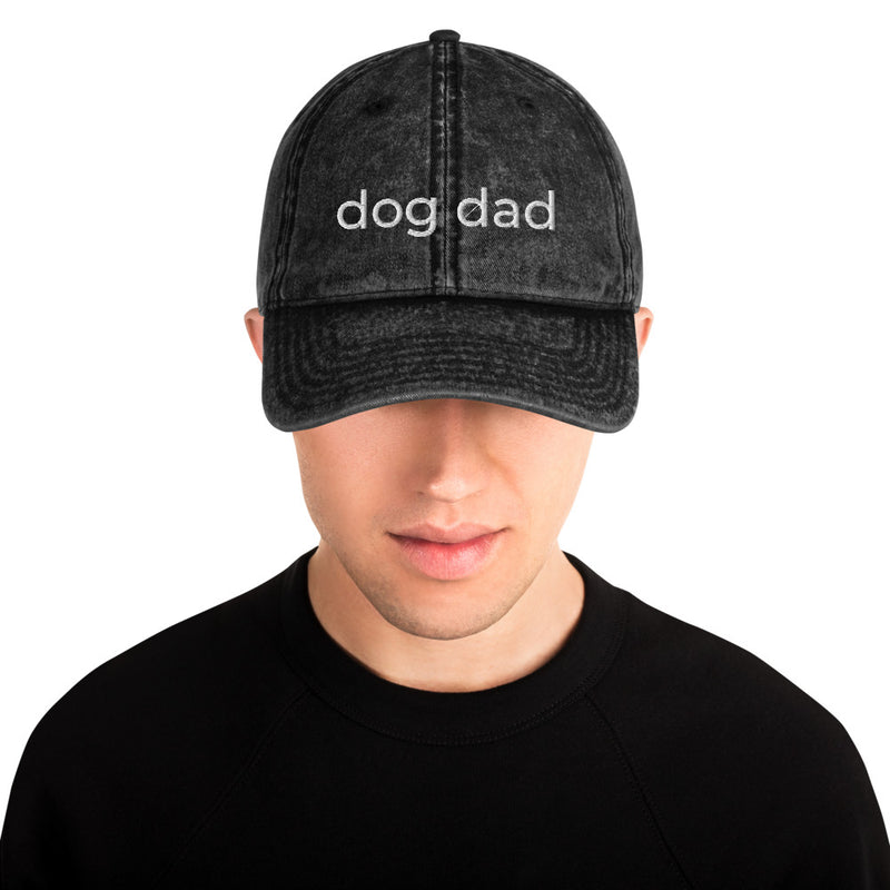 Dog Dad Vintage Cotton Twill Cap