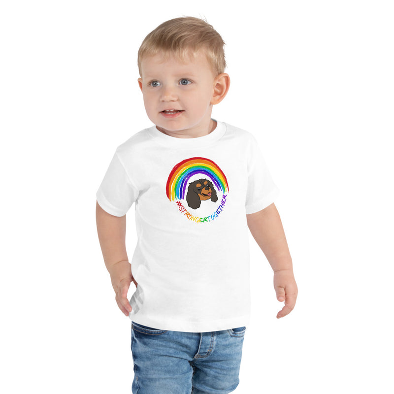 #StrongerTogether Black & Tan Charity Toddler Tee