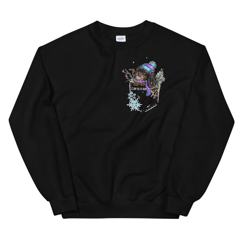 SNOW CAV SWEATSHIRT (black & tan)
