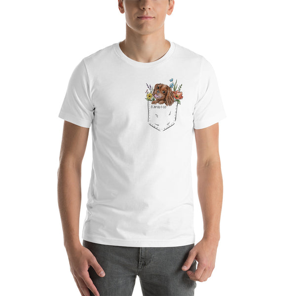 CAV IN POCKET (ruby) White T-Shirt