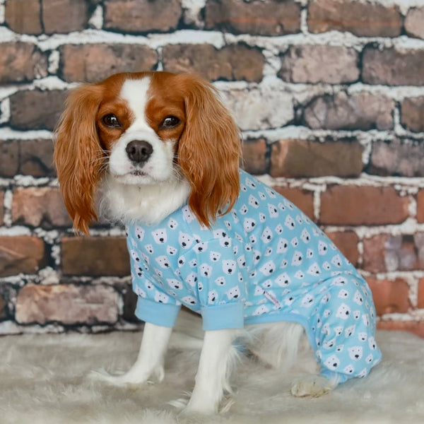 BLUE POLAR BEAR DOG PYJAMAS