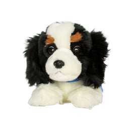 CAVALIER KING CHARLES PLUSH TOY - TRICOLOR (LARGE)