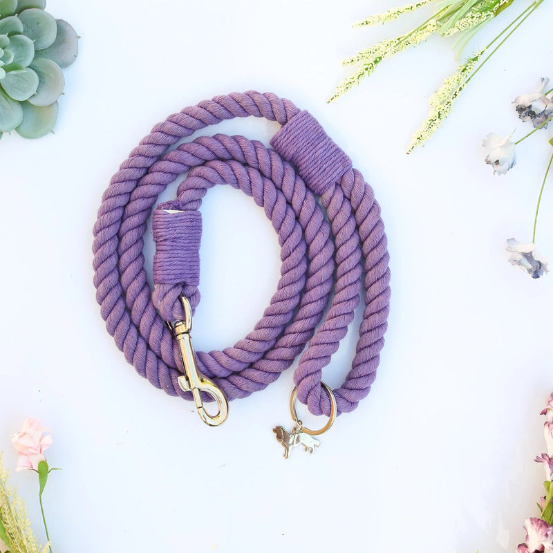 MELROSE | PURPLE rope leash