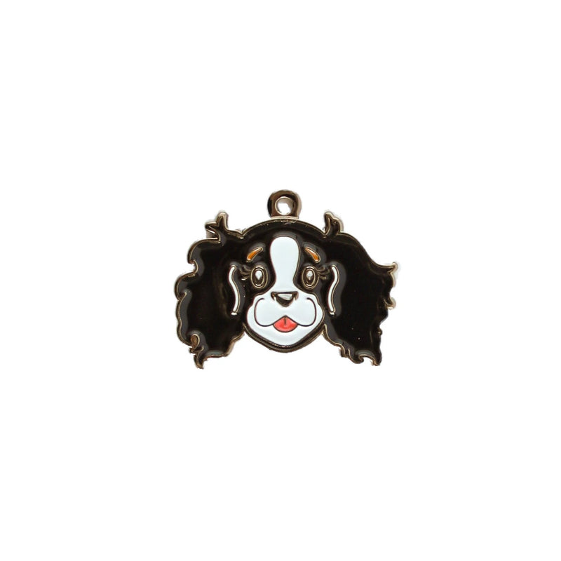 Cavalier King Charles face charm | TRICOLOR