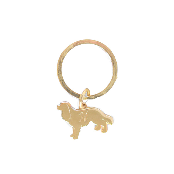 Cavalier King Charles silhouette charm | GOLD