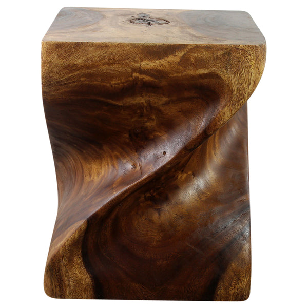 Haussmann® Wood Big Twist Coffee Table 16 in SQ x 20 in High Walnut Oil